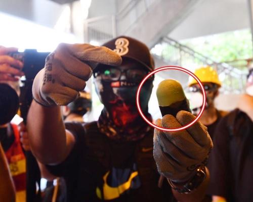 【修例風波】屯門站外爆衝突防暴警疑發射海綿彈 制服最少2人