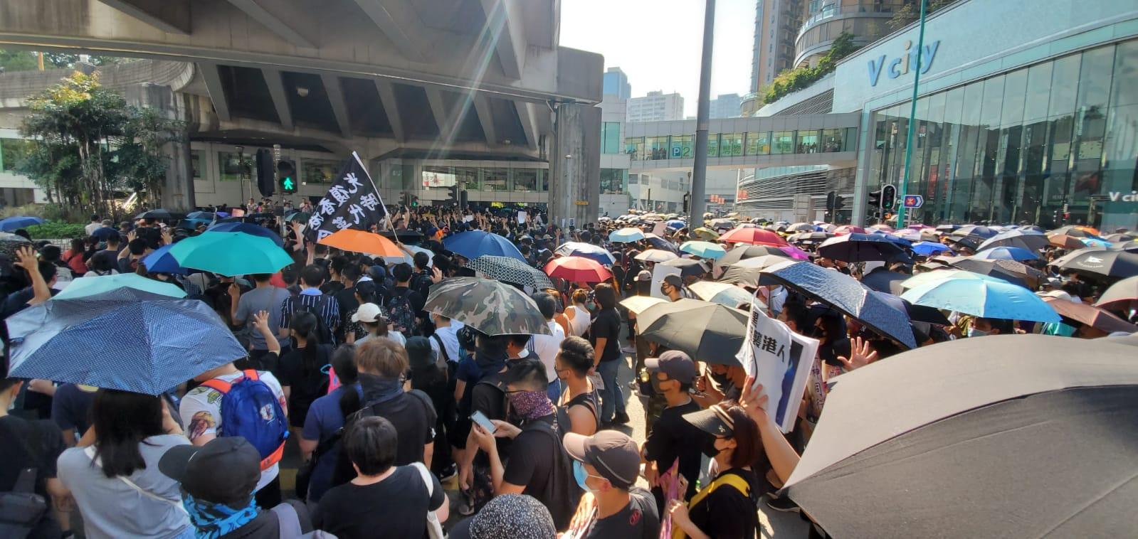 今日屯門有團體舉辦遊行。