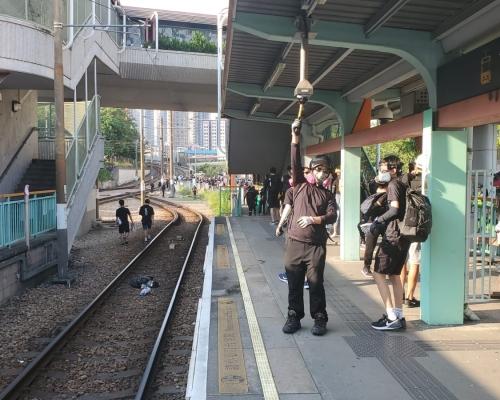 【修例風波】港鐵讉責示威者破壞輕鐵站  信號設備損毀