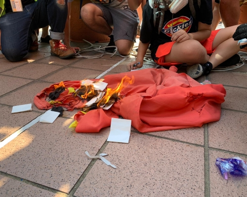【修訂風波】13歲女童涉屯門焚燒國旗被捕