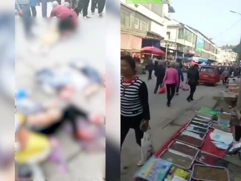 湖南貨車直撞市集民眾, 至少10死16傷。網圖