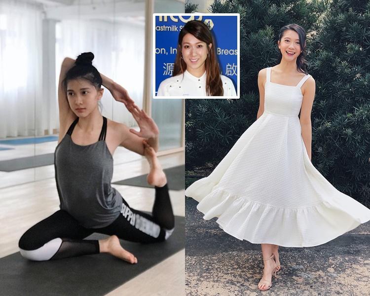 嫩版鍾嘉欣的林宣妤愛玩瑜伽,樣子純情清秀。