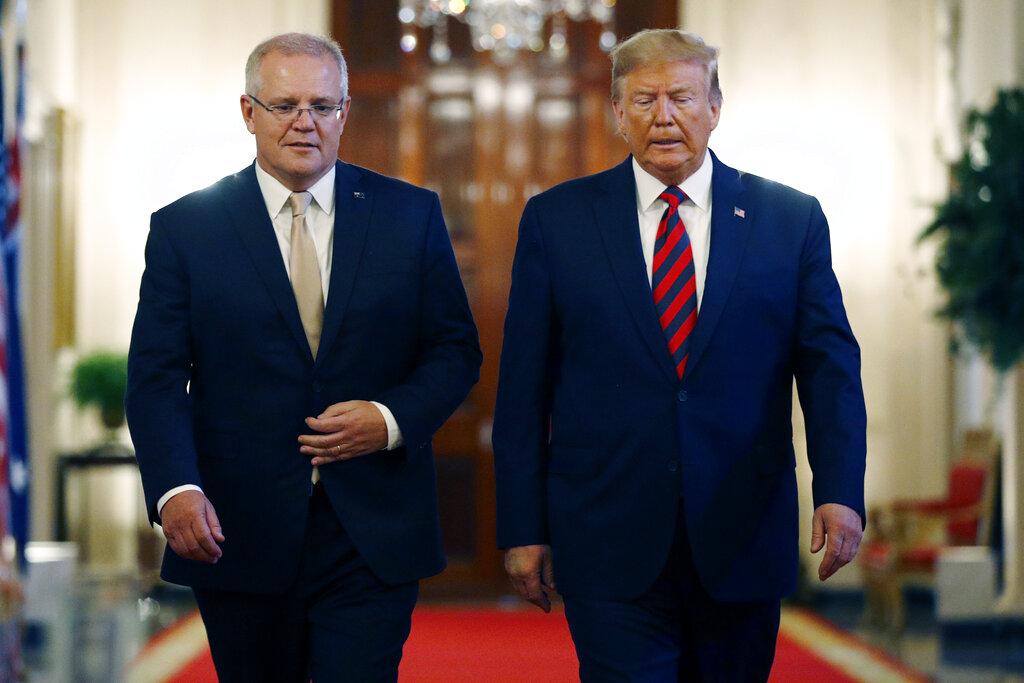 澳洲總理莫里森宣佈注資近8億,助特朗普實現登月夢。AP