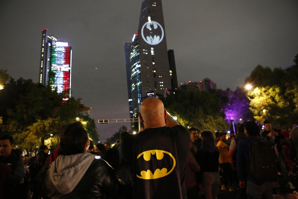 墨西哥蝙蝠燈。AP