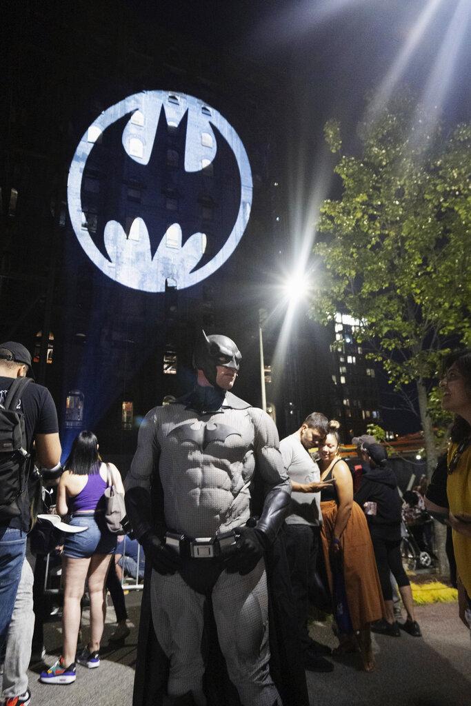 紐約蝙蝠燈。AP