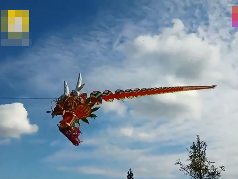 365米龍風箏。影片截圖