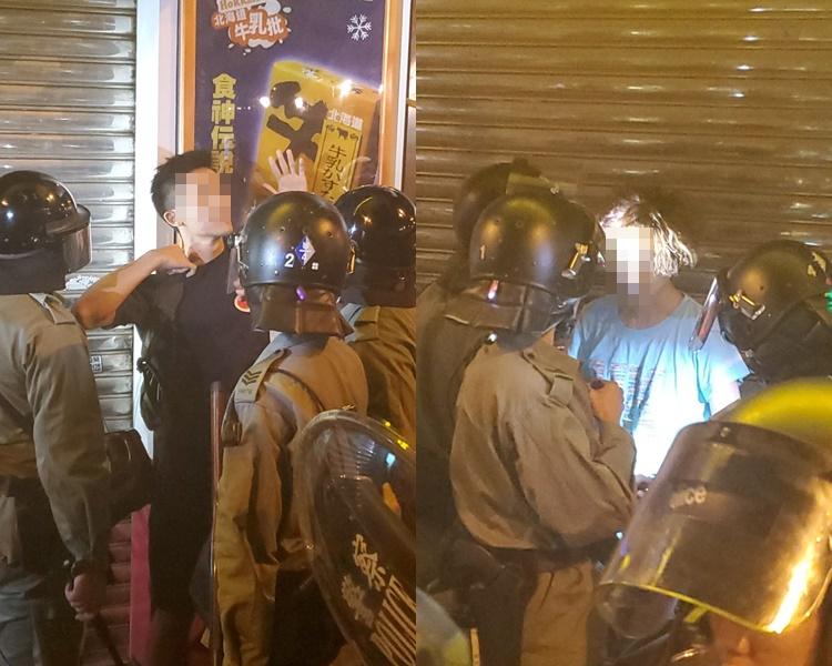 警方在彌敦道截查。