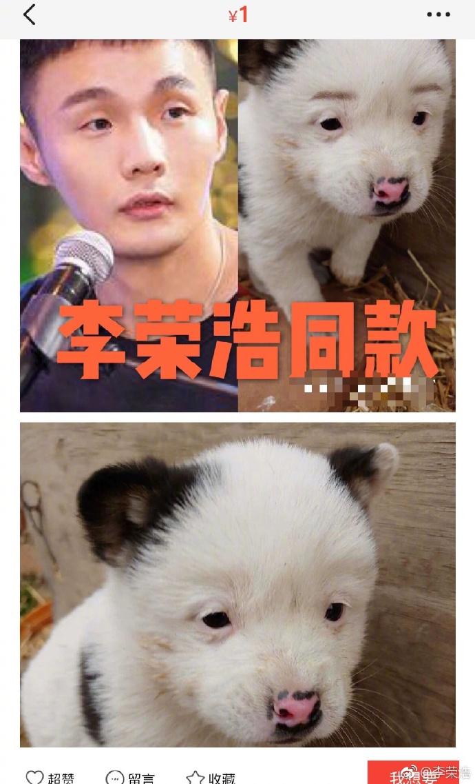 李榮浩也曾轉發這網圖自嘲。(微博圖片)