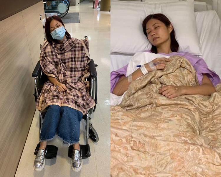 莊嘉瑩積勞成疾病倒肺炎入院。