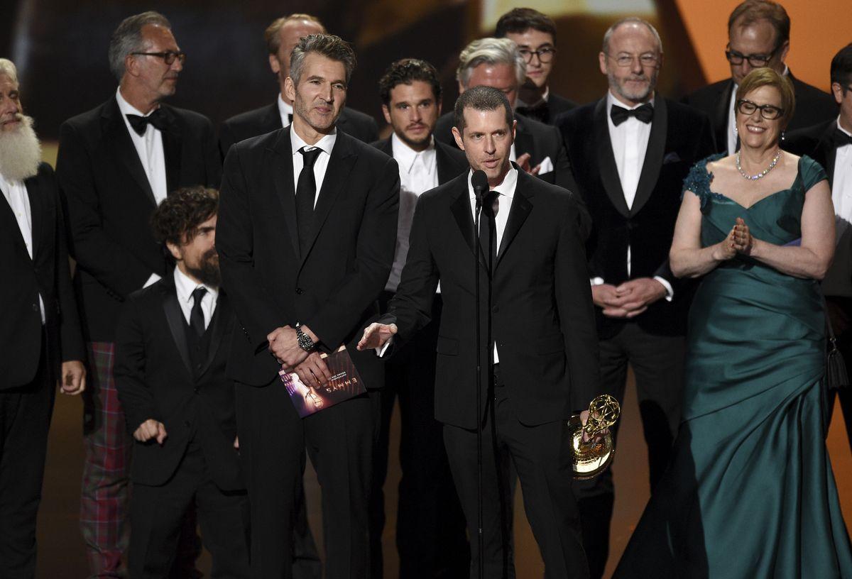 《權力遊戲》獲劇情組最佳劇集。AP圖片