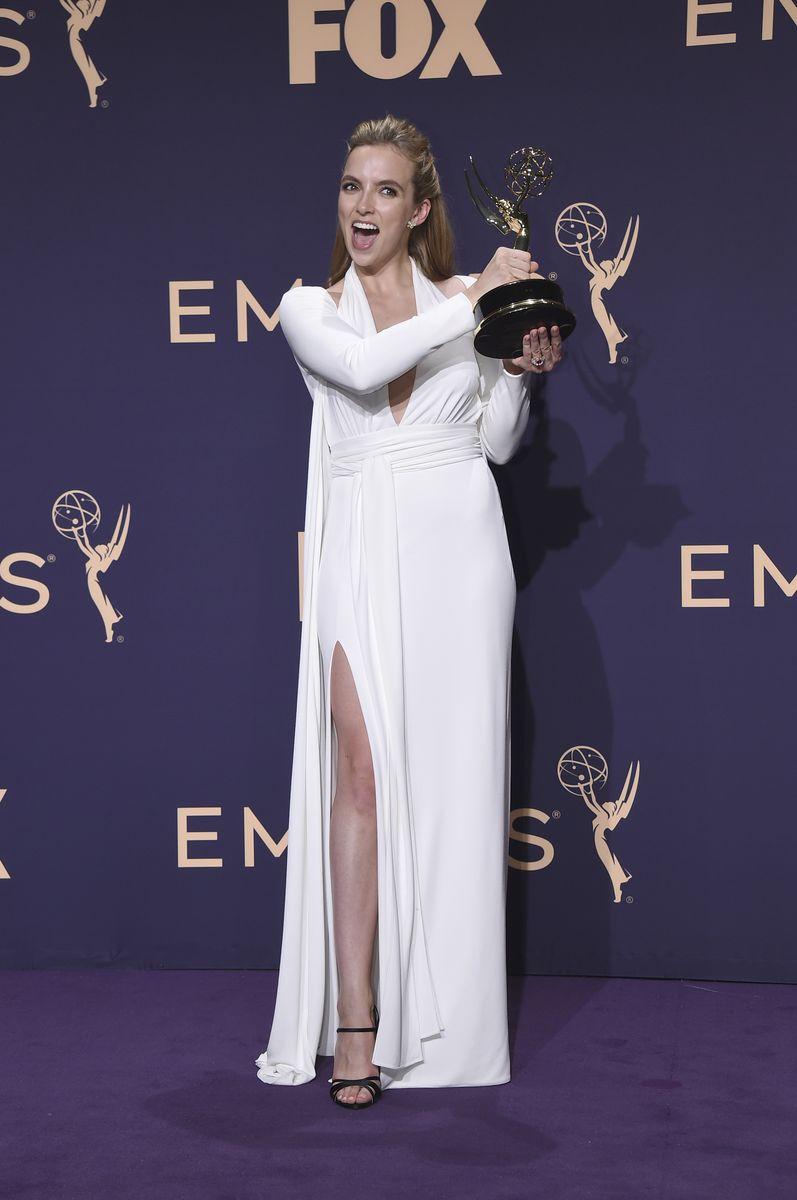 劇情組最佳女主角Jodie Comer。AP圖片