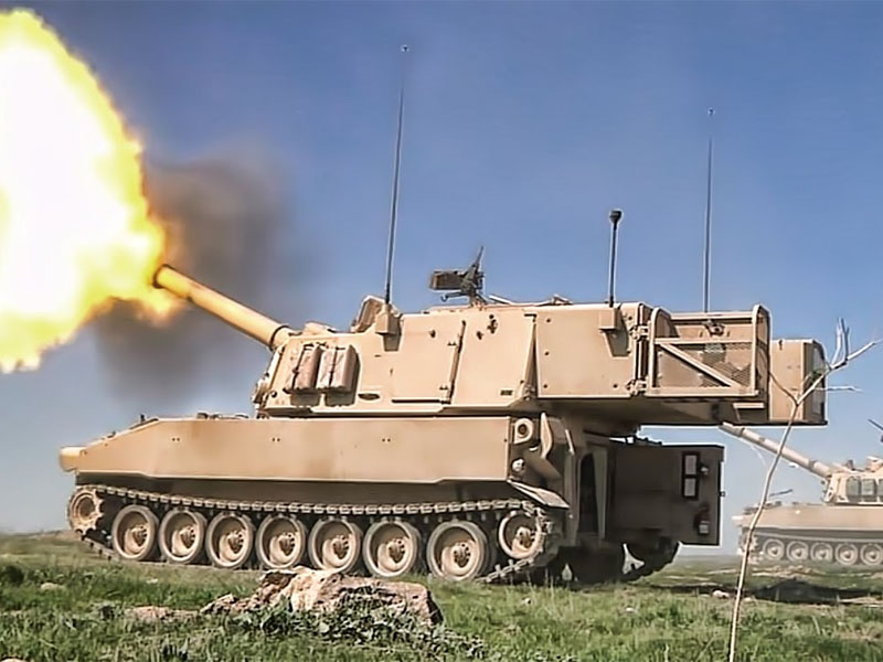 台國防部長首證實,將向美購M109A6自走炮。(網圖)