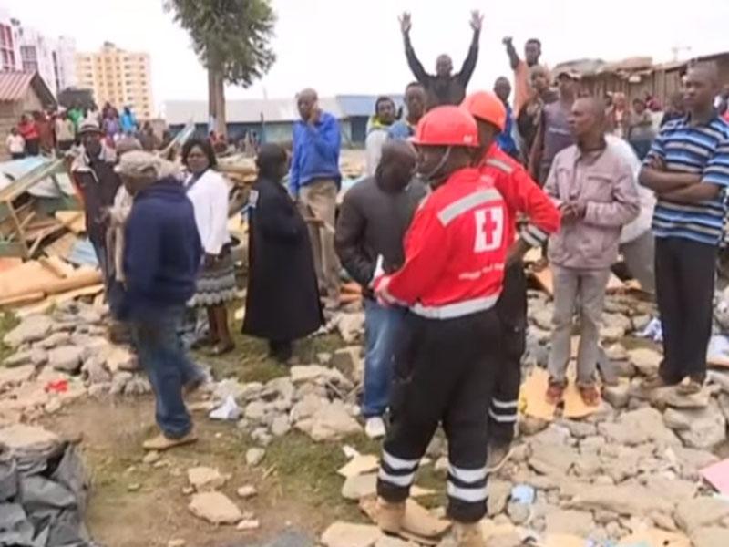 肯尼亞學校倒塌。(網圖)