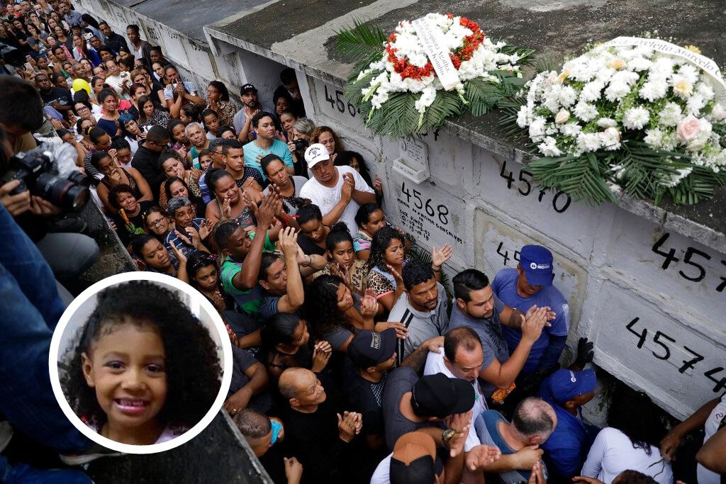 民眾上街抗議警方開槍殺死8歲女童阿加莎。網圖