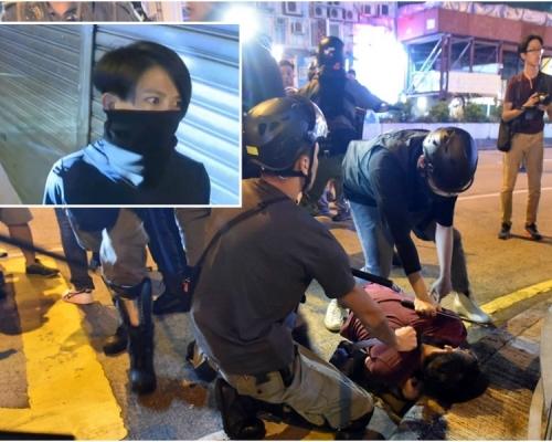 【修例風波】警方承認便衣女警旺角協助拘捕 有特別制服人員警車取裝備