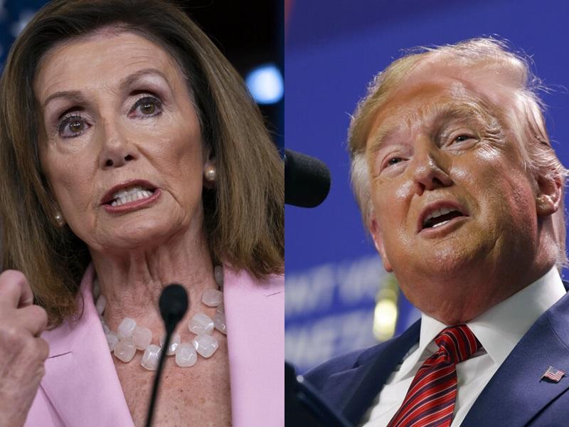 佩洛西指國會或會對特朗普展開「全新階段調查」,暗示啟動彈劾程序。AP