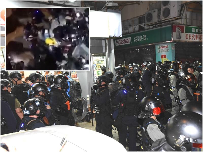 「守護孩子行動」一名成員懷疑被警員帶到後巷毆打。