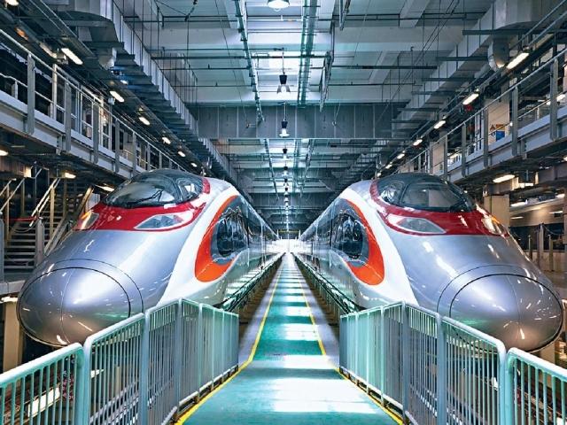 高鐵載客量不似預期。資料圖片