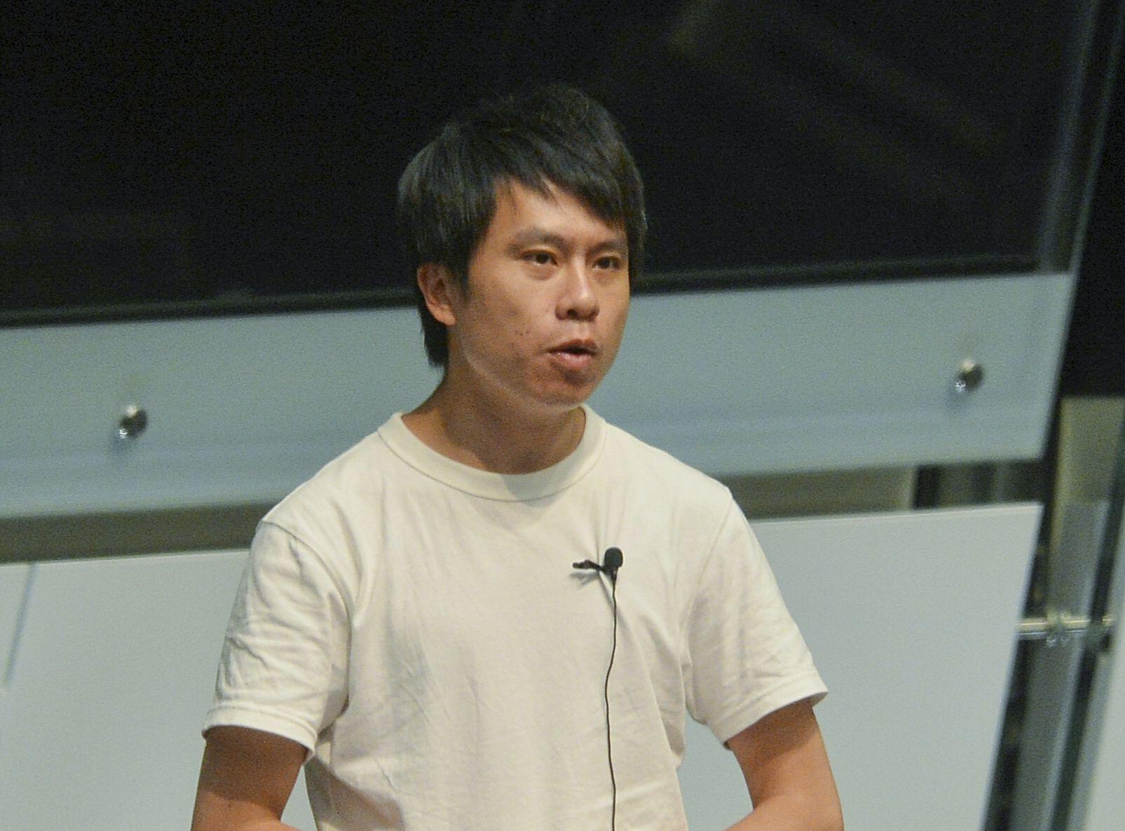 立法會議員鄺俊宇遇襲。 資料圖片