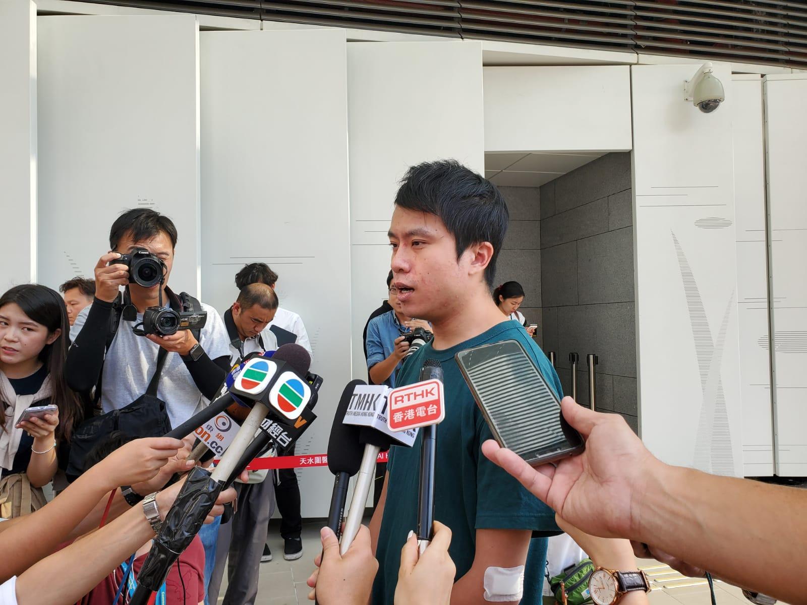 鄺俊宇會見傳媒。