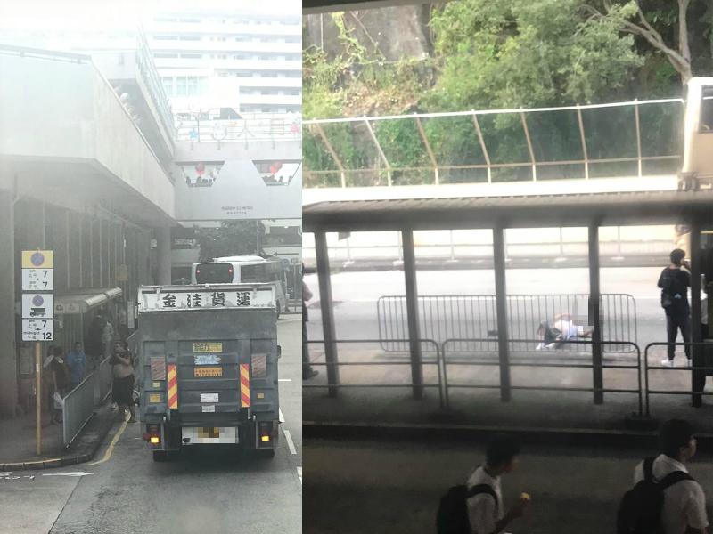 葵盛西邨男子墮樓倒臥馬路。突發事故報料區圖片