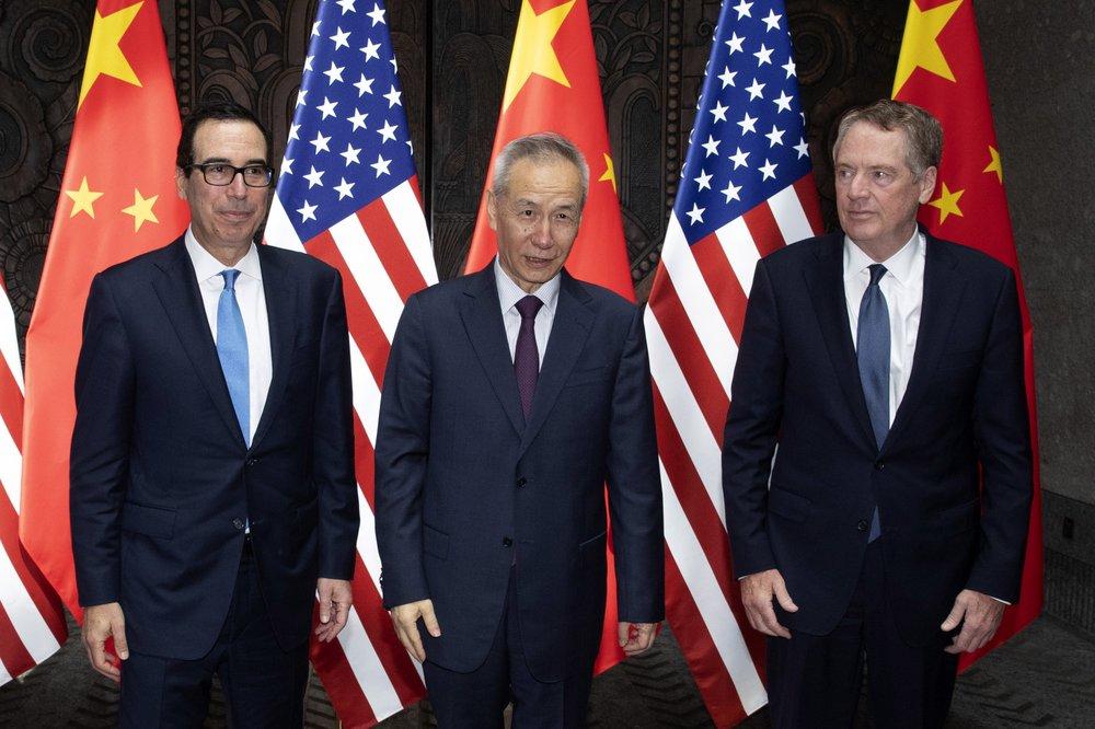 劉鶴以「習近平特使」的身份或與姆欽、萊特希澤在華盛頓再次會面。AP