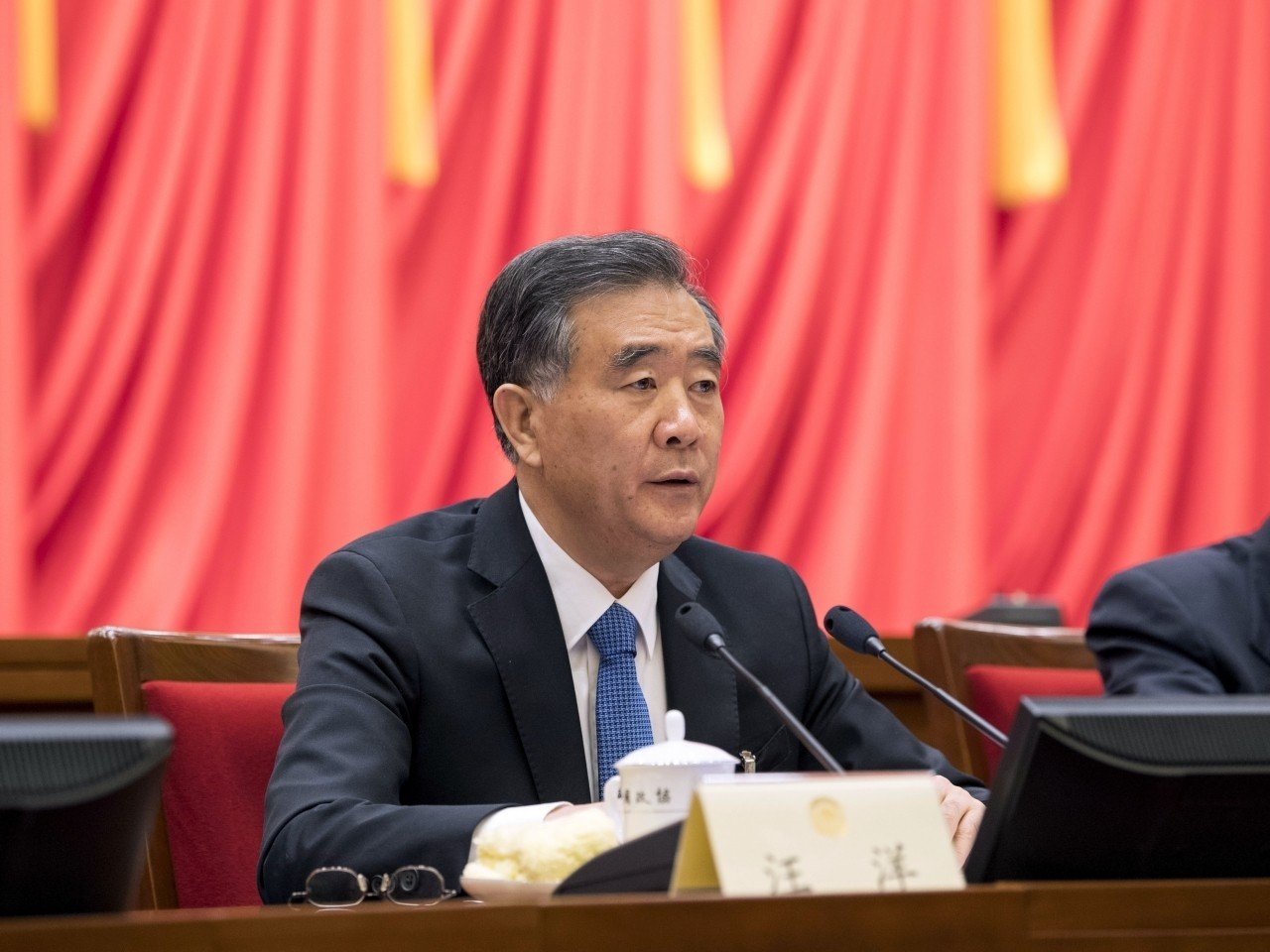 汪洋重申中央支持特首及特區政府依法施政。新華社圖片