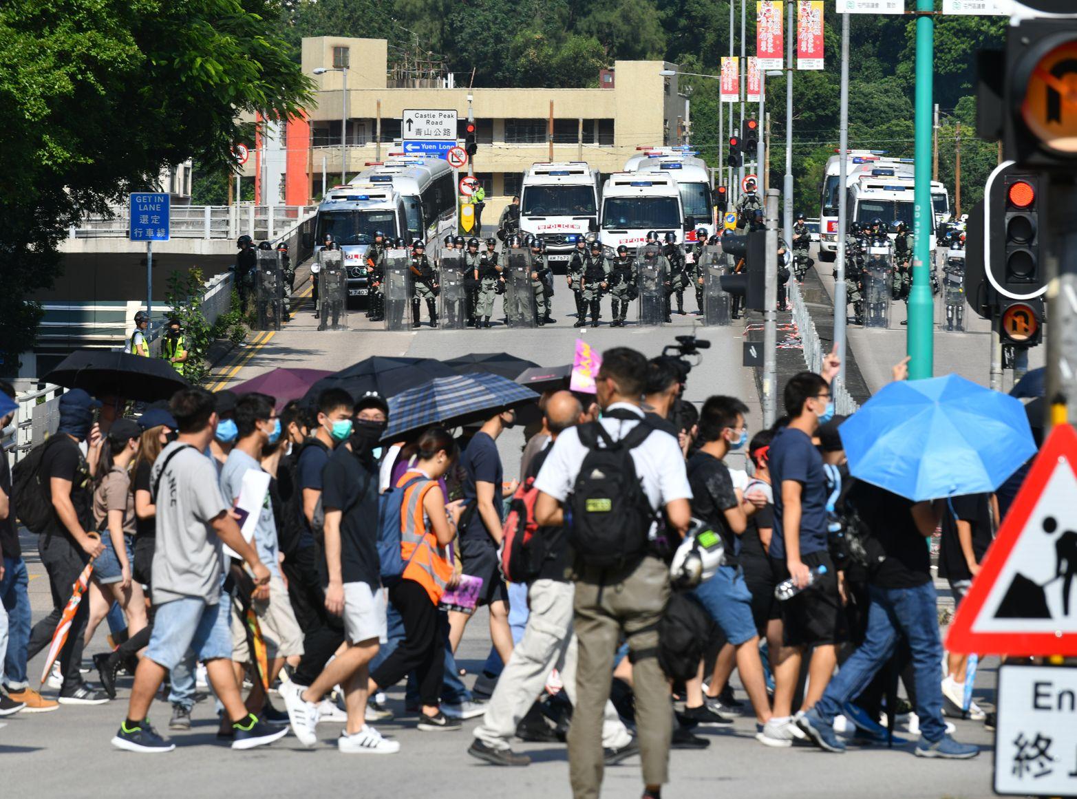 屯門921「光復屯門公園」遊行演變成示威衝突。資料圖片