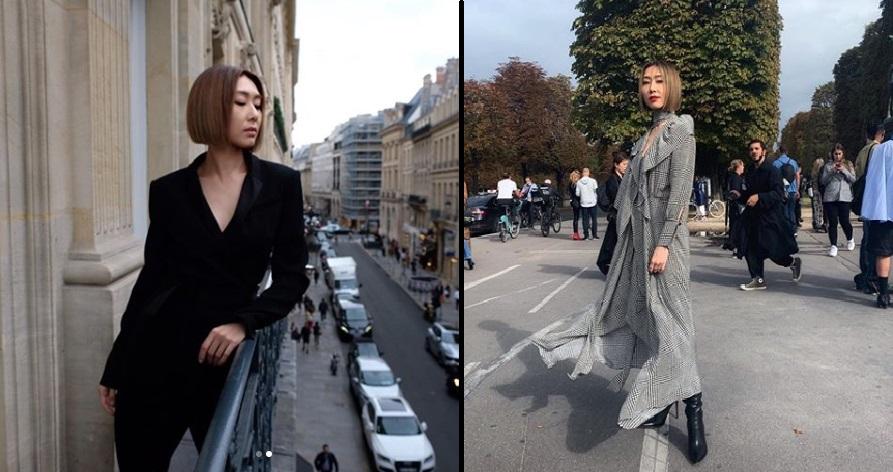 胡定欣亦有現身巴黎時裝周。(IG圖片)