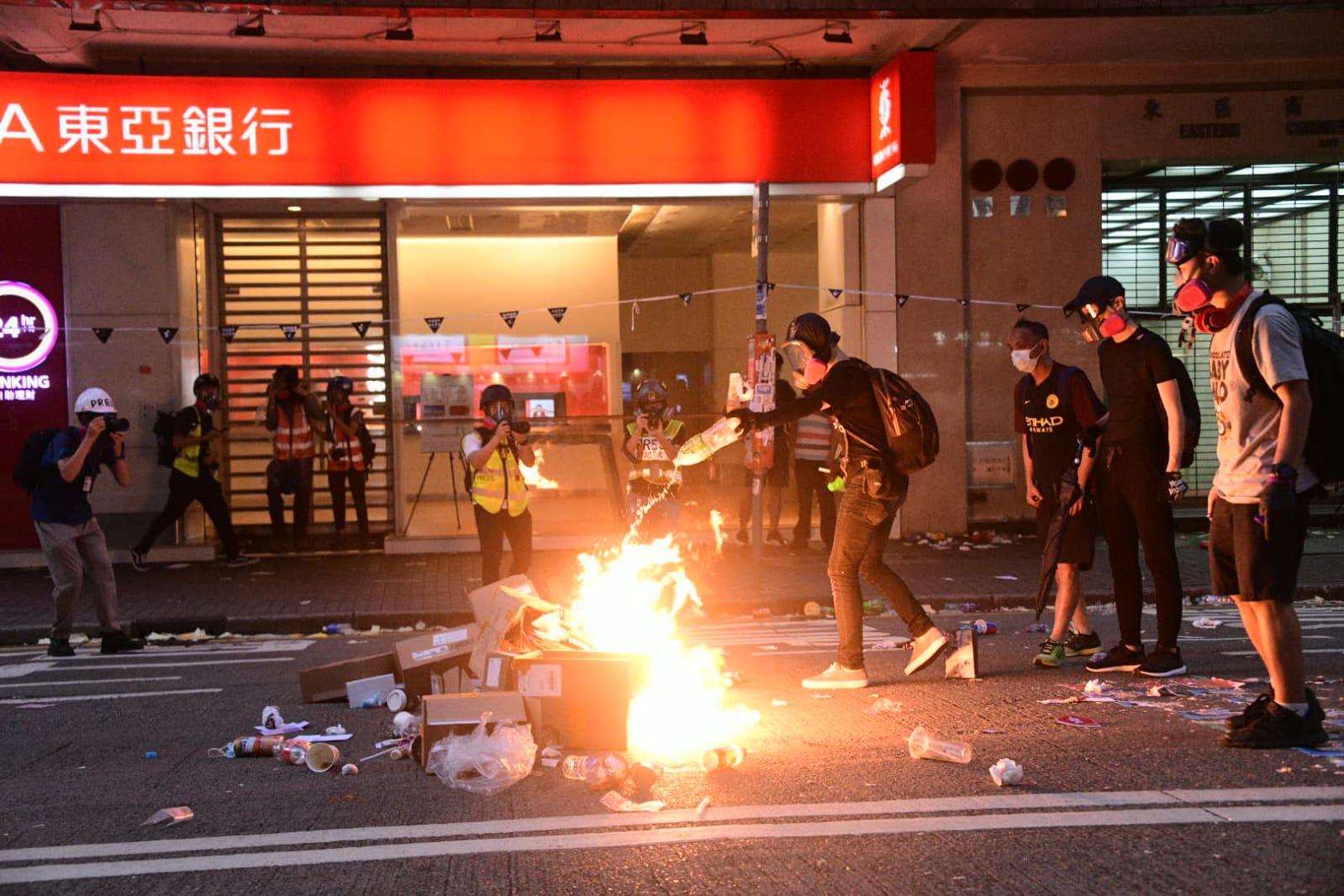 香港示威衝突持續近4個月。資料圖片