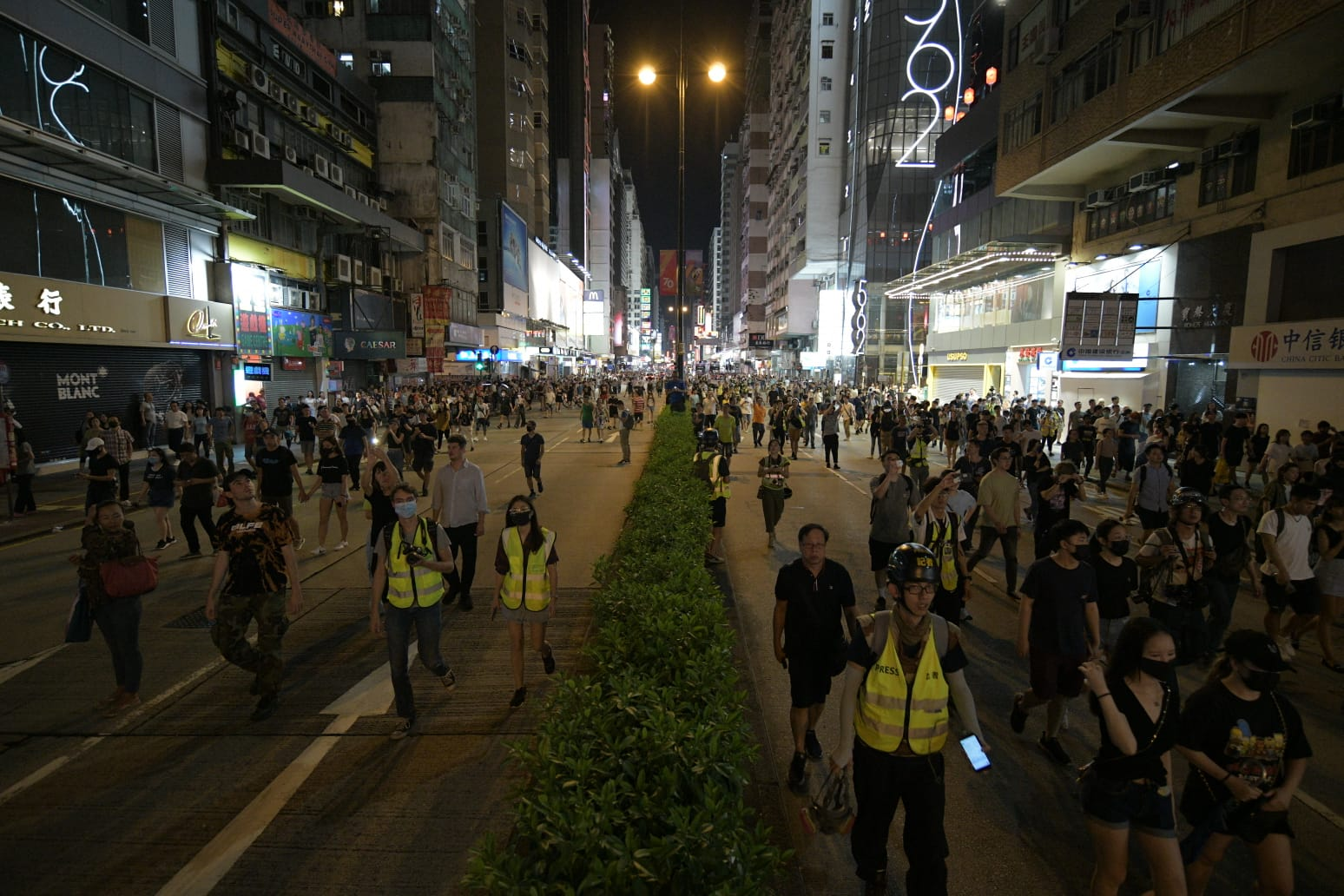 示威者再度佔據彌敦道