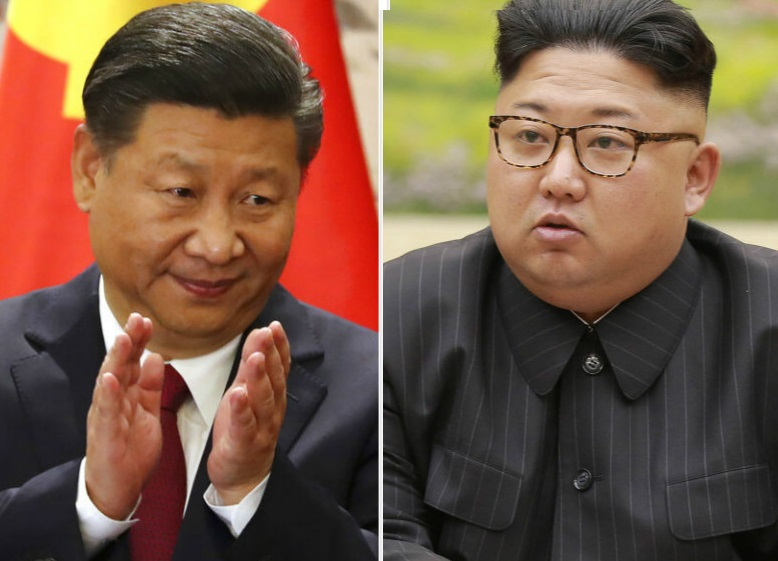 中國與北韓今年建交70周年,習近平與金正恩互相致賀電。 AP
