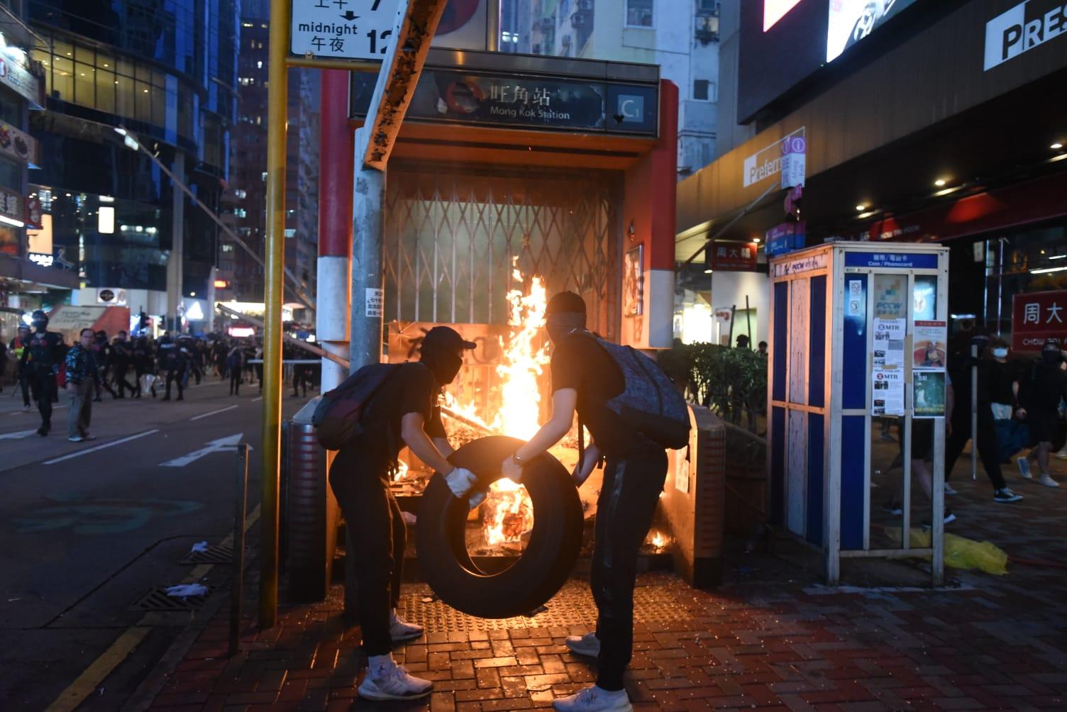 本港爆發激烈衝突