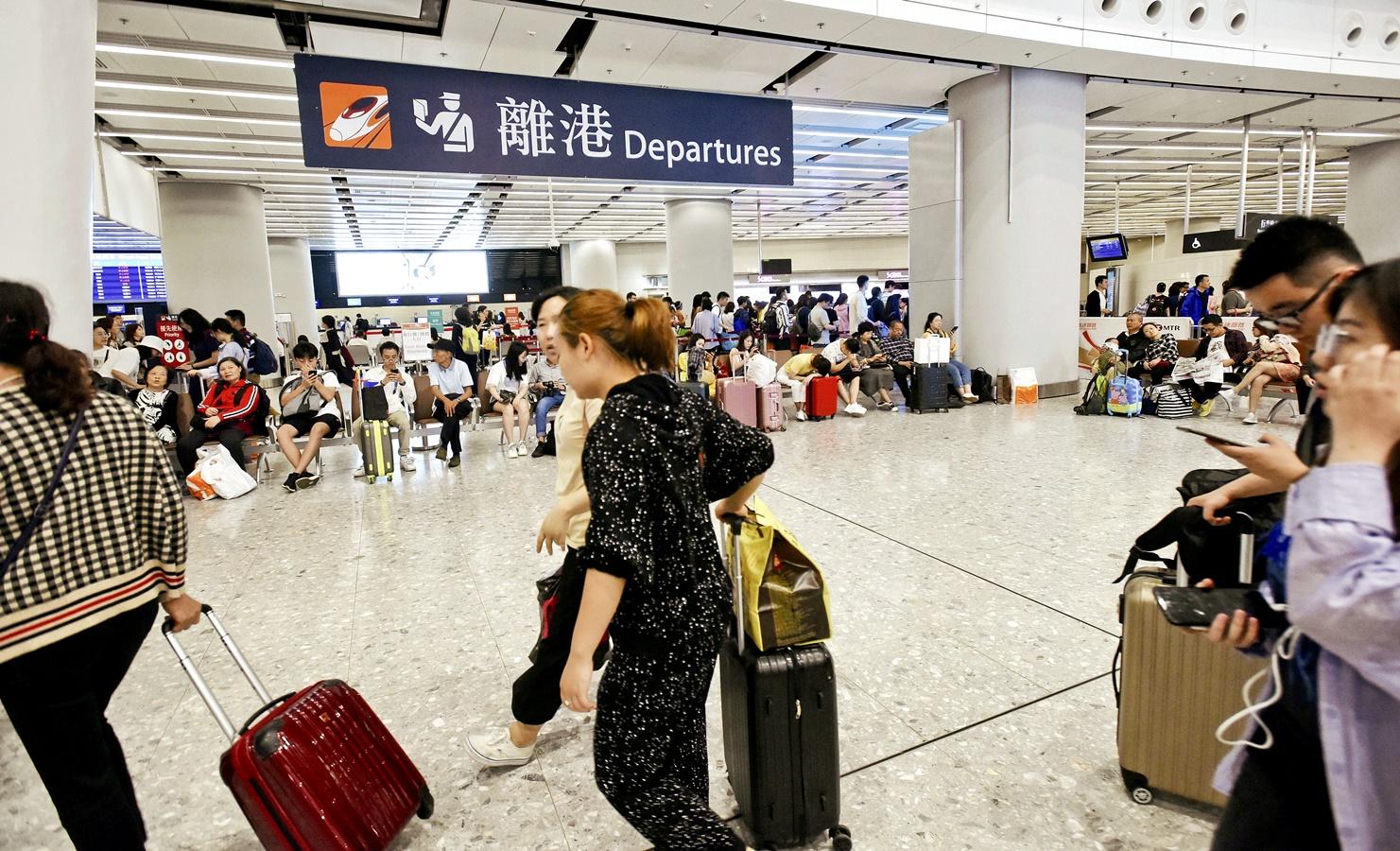 今年10.1黃金周內地旅客大跌。資料圖片