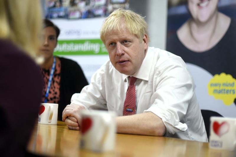 有消息指,首相約翰遜認為硬脫歐已是「唯一出路」。AP