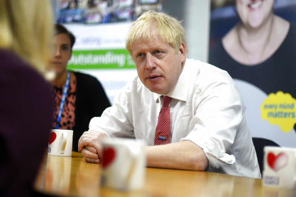 英国首相约翰逊。图片