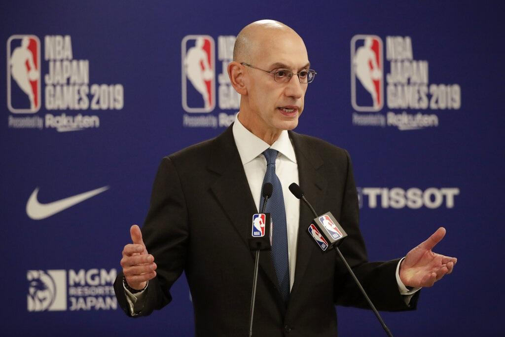 NBA總裁蕭華(Adam Silver)。AP圖片