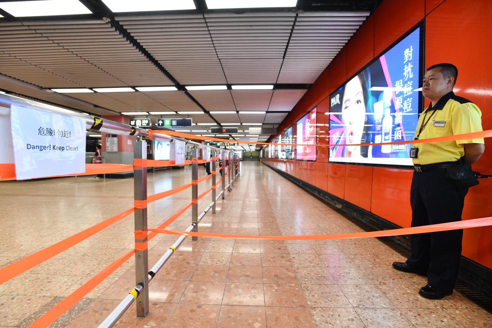 旺角站仍然關閉。資料圖片