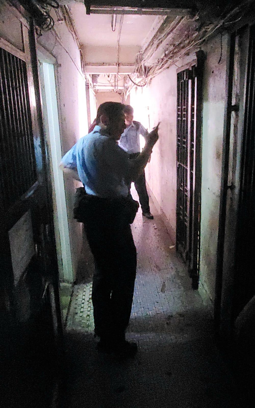 警方接報到場調查證實虛驚一場。林思明攝