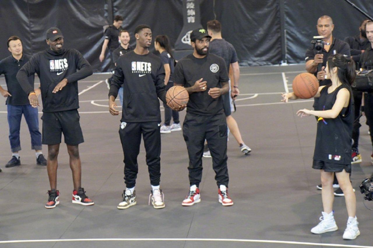 布魯克林籃網隊昨日在上海進行球迷活動。網上圖片