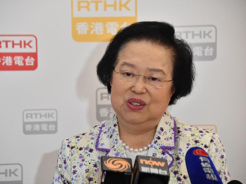 譚惠珠表示《禁蒙面法》有阻嚇作用,冀減少示威新血。