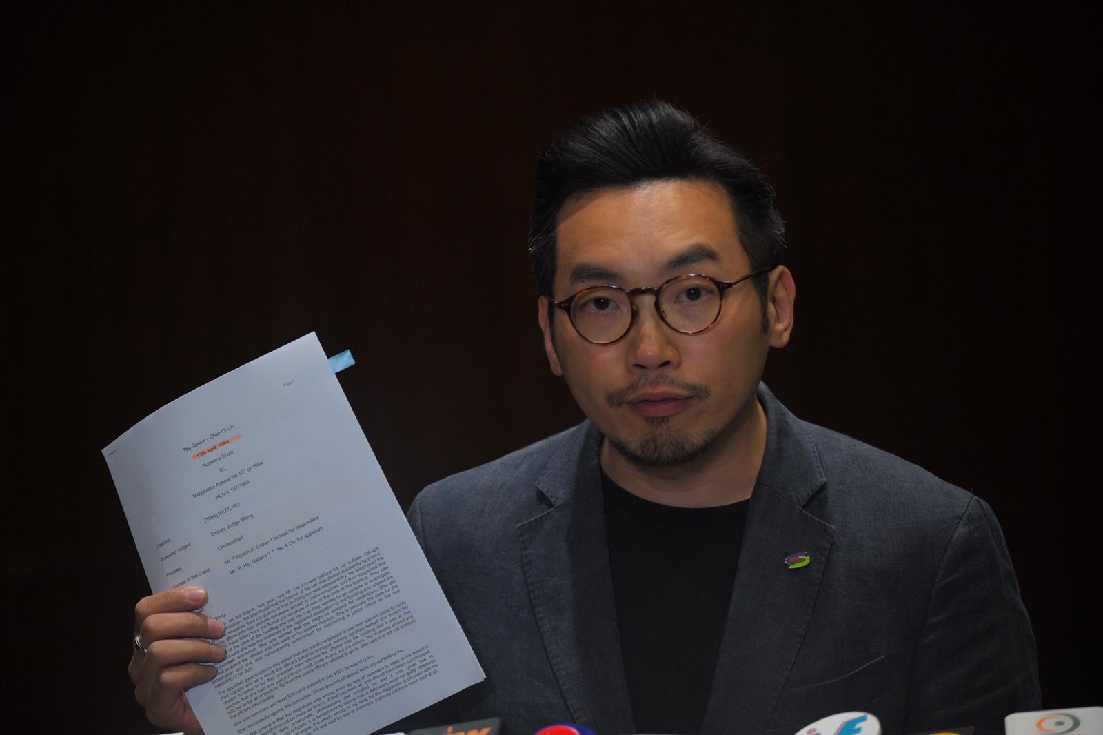 楊岳橋質疑警方製造寒蟬效應。