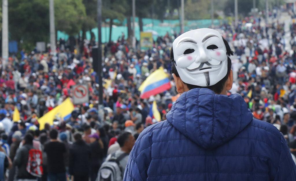 厄瓜多爆發的這場10年來最大規模群眾抗議,是由運輸工會帶頭,但也有學生和其他人士發起。 AP