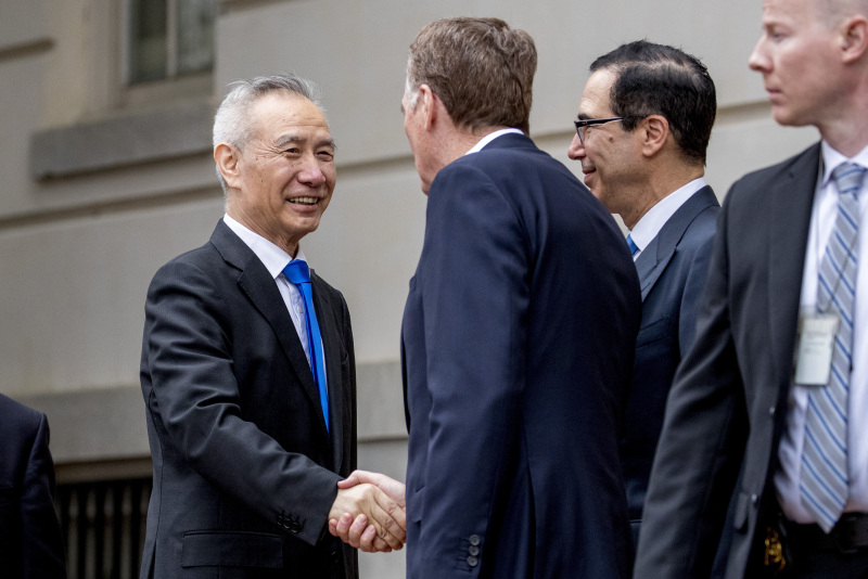 中美新一輪貿易談判今天在華盛頓召開。AP