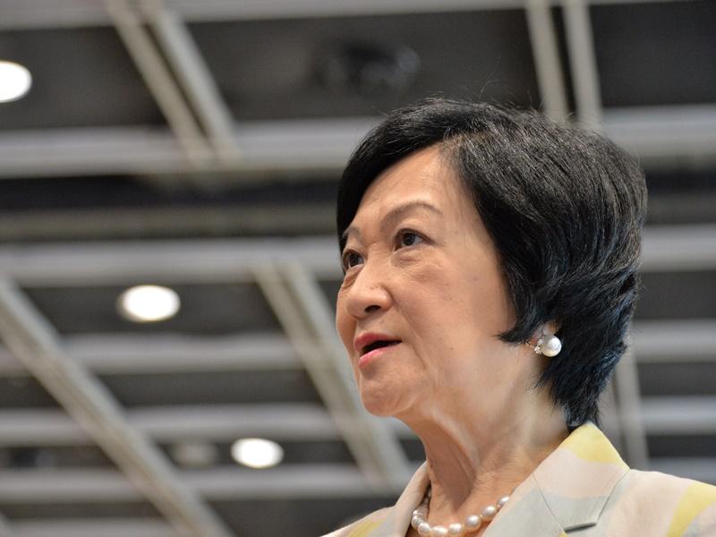 葉劉淑儀呼籲記者小心安全。資料圖片