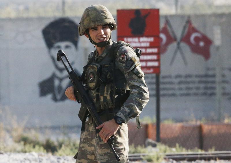 土耳其進軍敘利亞。AP