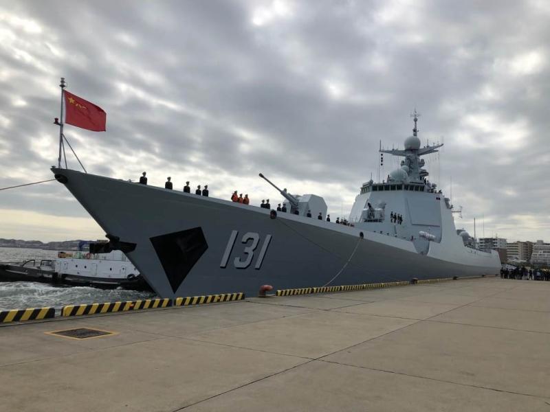太原號軍艦是中國自行設計生產的新型導彈驅逐艦。(網圖)