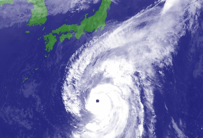 今年西太平洋最強颱風「海貝思」逐步迫近日本。日本氣象廳