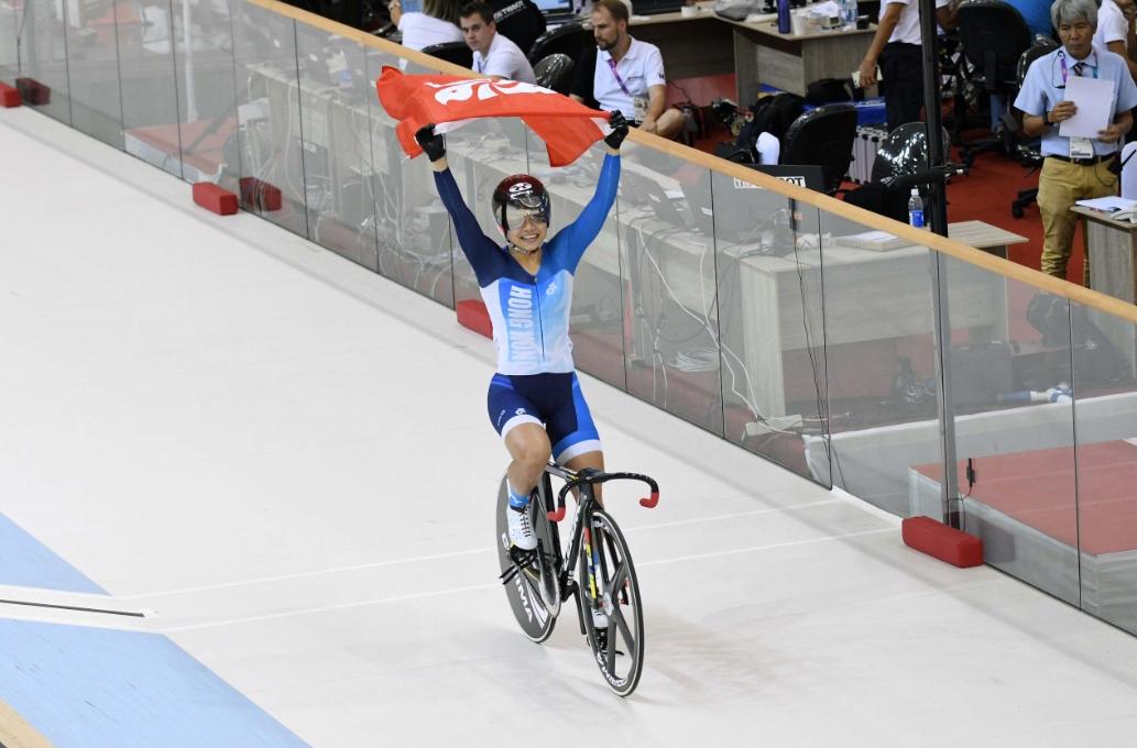 港女單車代表李慧詩在上屆賽事中,於女子爭先賽及凱林賽奪金。 資料圖片