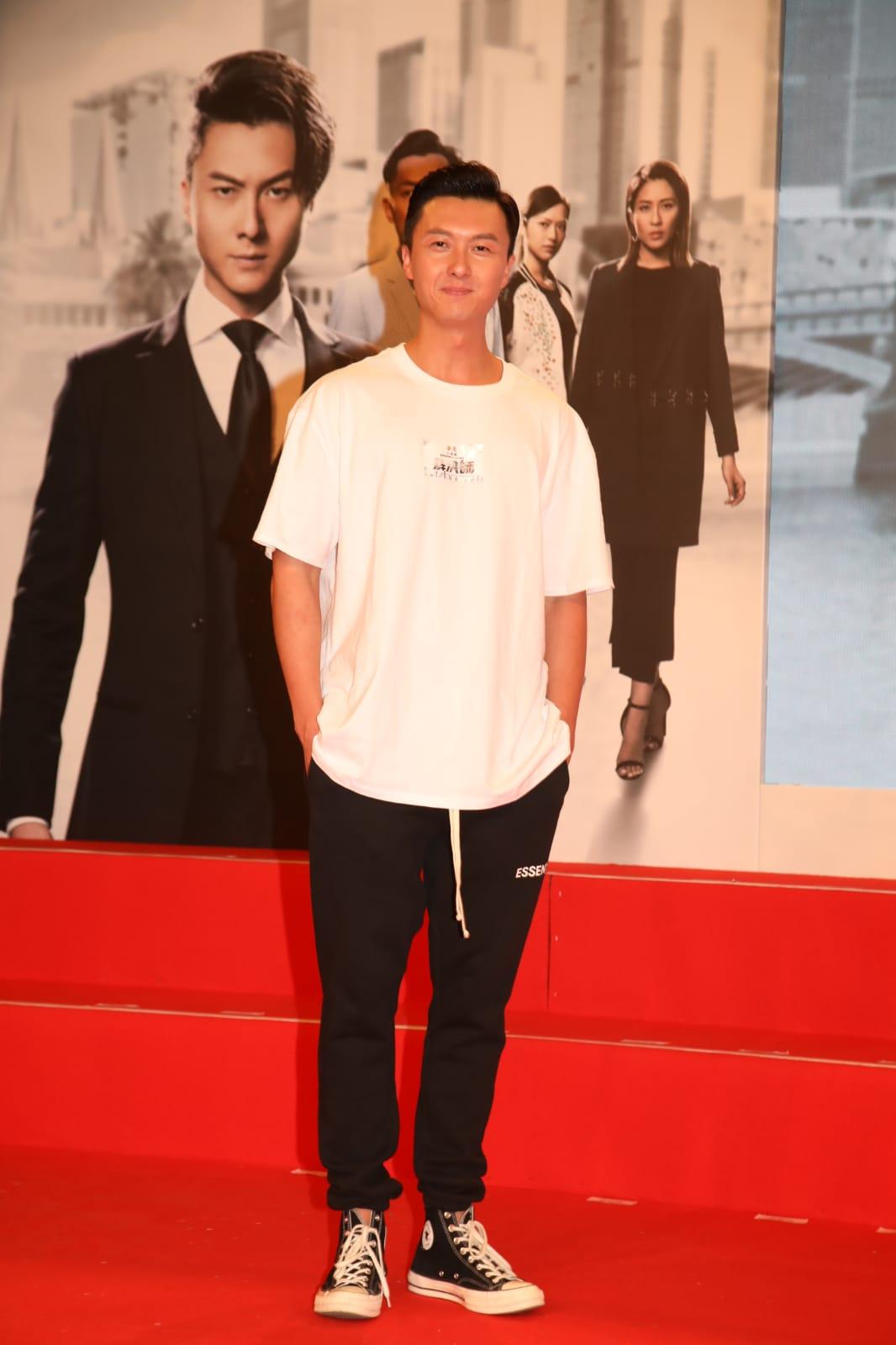 王浩信為台慶劇《解決師》宣傳。